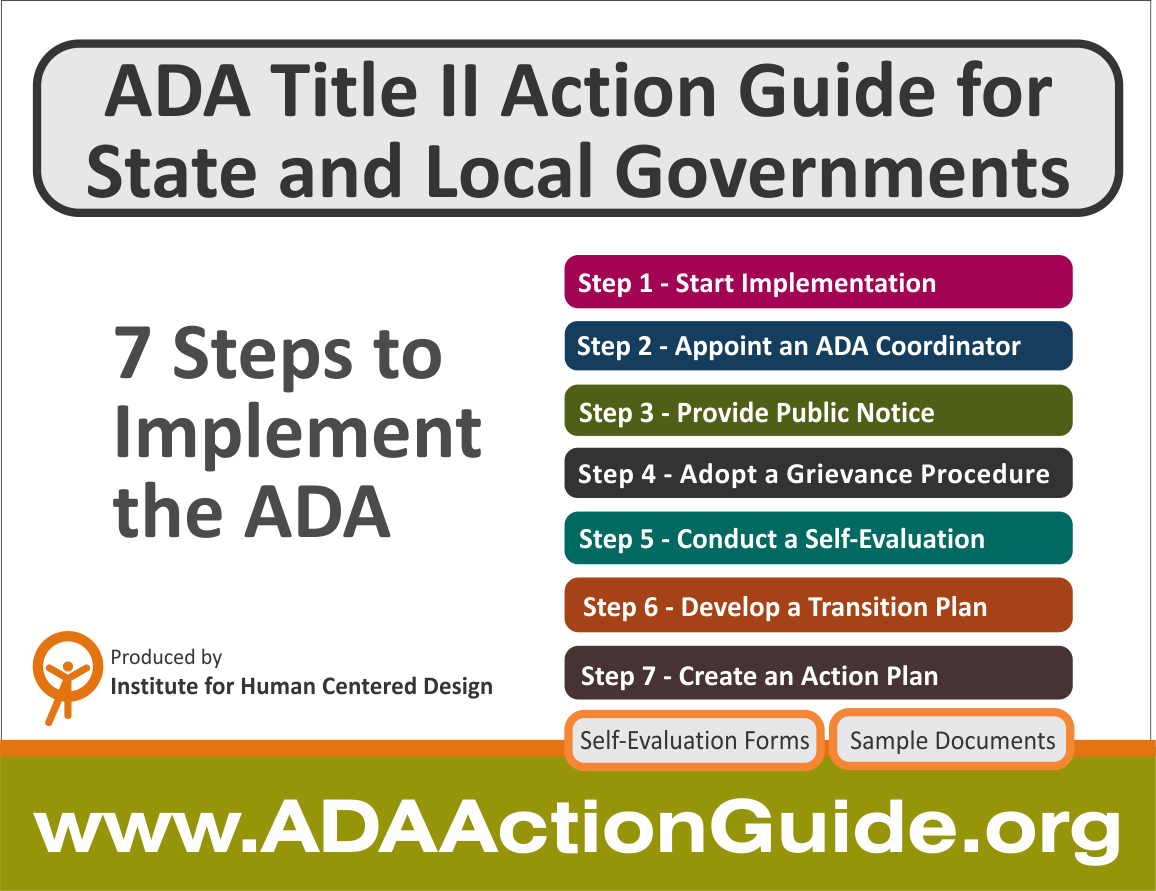 ADA title II Action Guide for State and Local Governments - 7 steps to implement the ADA