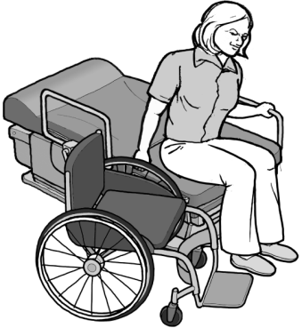 Tranferring from wheelchair onto accessible exam chair