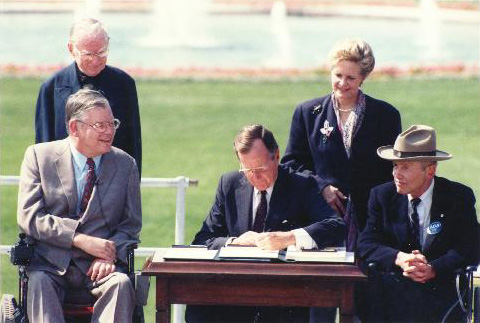 President Bush at the signing of the ADA